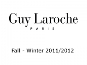 Guy Laroche - Paris Fashion Week - Pret a Porter Women Fall Winter 2011-2012